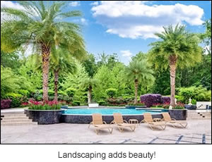 Landscaping adds beauty!
